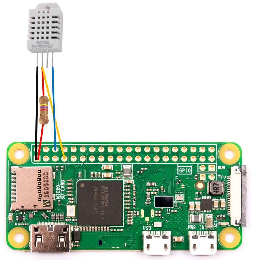 Montage Raspberry Pi DHT22